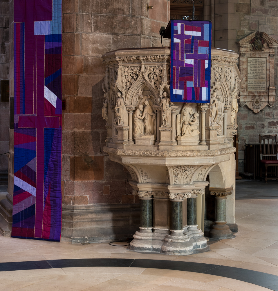 New lenten banners pulpit